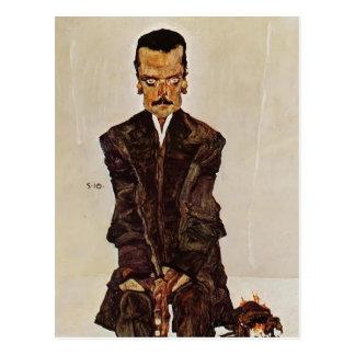 Portrait d'Egon Schiele- d'éditeur Eduard Kosmack Carte Postale