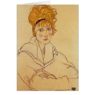 Portrait d'Egon Schiele- d'Édith Schiele Carte De Vœux