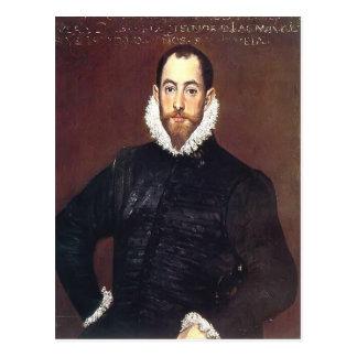 Portrait d'EL Greco- d'un monsieur de maison Leiva Cartes Postales