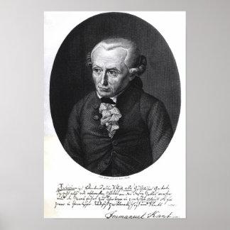 Portrait d'Emmanuel Kant Posters