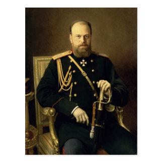 Portrait d'empereur Alexandre III 1886 Carte Postale
