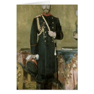 Portrait d'empereur Nicholas II 1895 Carte De Vœux