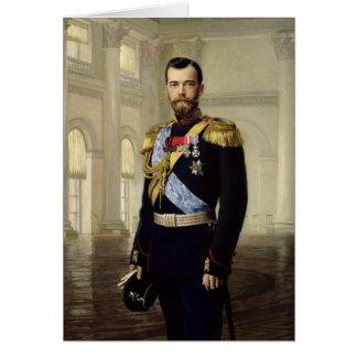 Portrait d'empereur Nicholas II, 1900 Carte De Vœux