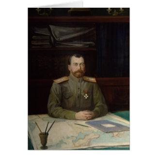 Portrait d'empereur Nicholas II, 1914 Carte De Vœux
