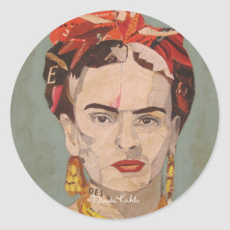 Portrait d'en Coyoacán de Frida Kahlo Sticker Rond