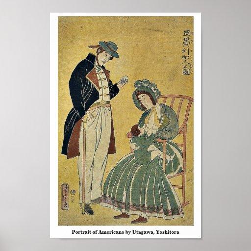 Portrait des Américains par Utagawa, Yoshitora Posters