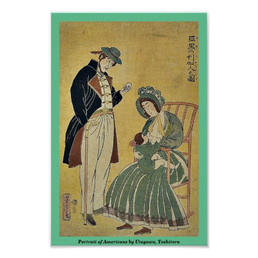 Portrait des Américains par Utagawa, Yoshitora Affiches