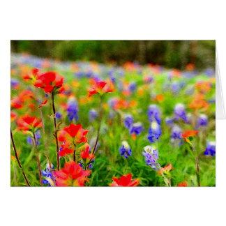 Portrait des cartes de fleur sauvage de ressort