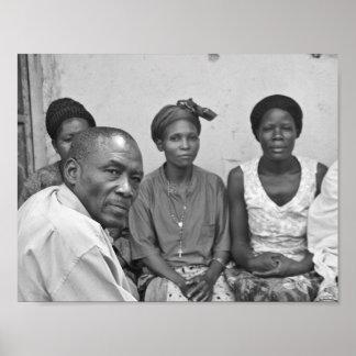 Portrait des Ougandais ayant une réunion de Poster