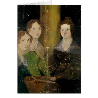 Portrait des soeurs de Bronte, c.1834 Carte De Vœux