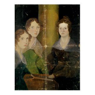 Portrait des soeurs de Bronte, c.1834 Cartes Postales
