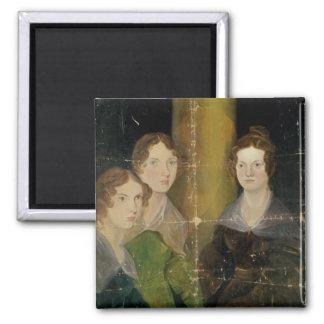 Portrait des soeurs de Bronte, c.1834 Magnet Carré