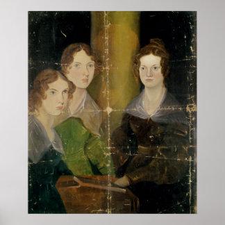 Portrait des soeurs de Bronte, c.1834 Posters