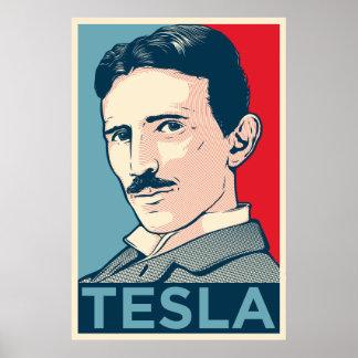 Portrait d'espoir de Nikola Tesla Affiches
