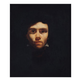 Portrait d'Eugene Delacroix c.1818-19 Posters