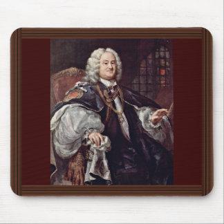 Portrait d'évêque Benjamin Hoadly By Hogarth Tapis De Souris