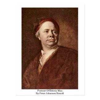 Portrait d'homme plus âgé par Peter Johannes Brand Carte Postale