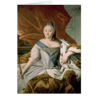 Portrait d'impératrice d'Elizabeth Petrovna Carte De Vœux