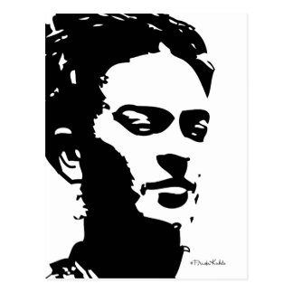 Portrait d'ombre de Frida Carte Postale