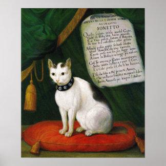 Portrait du chat Armellino Affiche