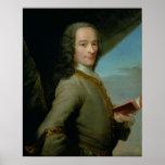 Portrait du jeune Voltaire Posters