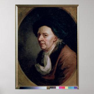 Portrait du mathématicien Léonard Euler Posters
