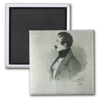 Portrait du napoléon III en tant que jeune homme,  Magnet Carré