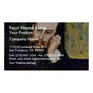 Portrait du peintre Alfred Sisley par le Pierre-Au Modèles De Cartes De Visite
