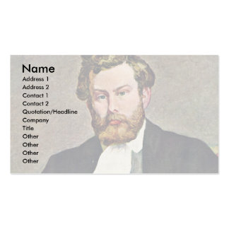 Portrait du peintre Alfred Sisley par le Pierre-Au Carte De Visite Standard