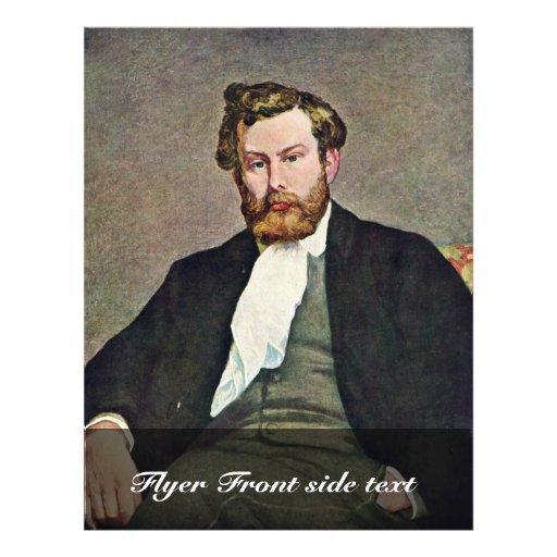 Portrait du peintre Alfred Sisley par le Pierre-Au Prospectus Customisé