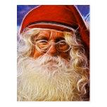 Portrait du père noël de Noël de père de Vieux Carte Postale