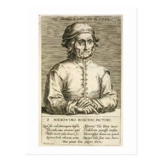 Portrait du plat 3 de Hieronymus Bosch Cartes Postales