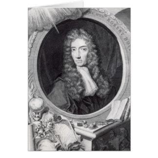 Portrait du Robert honorable Boyle Cartes