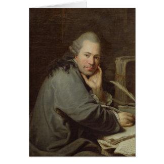 Portrait d'un auteur, 1772 carte de vœux