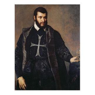 Portrait d'un chevalier de l'ordre de Malte Carte Postale