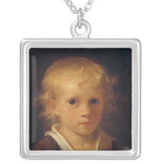Portrait d'un enfant pendentif carré