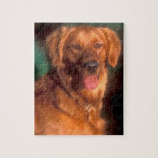 Portrait d'un golden retriever puzzle