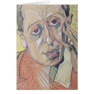 Portrait d'un homme, 1924 carte de vœux