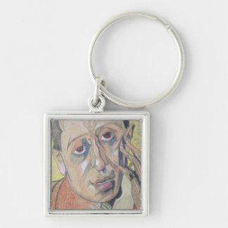 Portrait d'un homme, 1924 porte-clé carré argenté