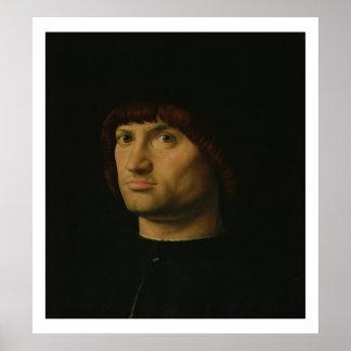 Portrait d'un homme, ou le Condottiere, 1475 (huil Affiche
