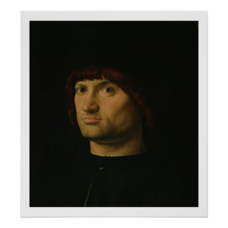 Portrait d'un homme, ou le Condottiere, 1475 (huil Posters