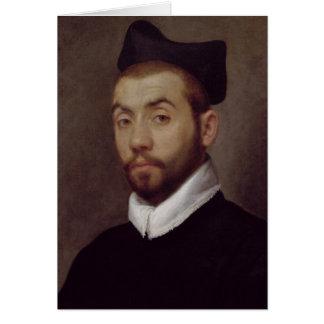 Portrait d'un homme, présumé pour être Marot Carte De Vœux