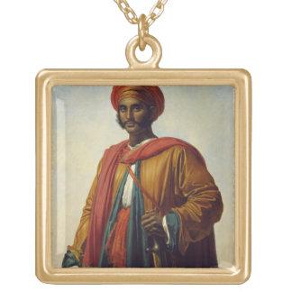 Portrait d'un Indien Collier Plaqué Or