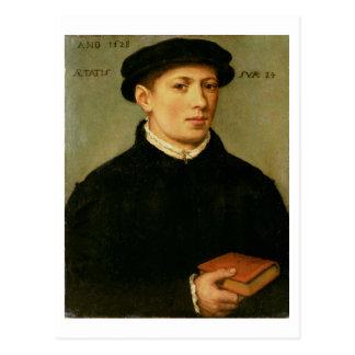 Portrait d'un jeune homme, 1528 carte postale