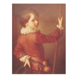 Portrait d'un jeune pèlerin, 1725 carte postale