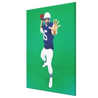 Portrait d'un joueur de football américain toile tendue sur châssis