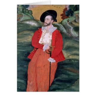 Portrait d'un marin européen, c.1590 carte de vœux