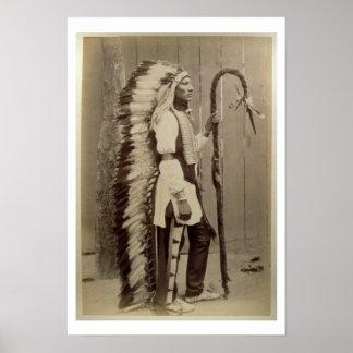 Portrait d'un Natif américain de 'Buffalo Bill Affiche