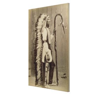 Portrait d'un Natif américain de 'Buffalo Bill Toile Tendue