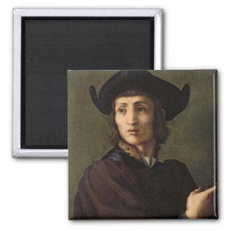 Portrait d'un orfèvre magnet carré